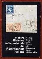 FILATELIA RISORGIMENTO ITALIANO  MOSTRA FILATELICA  TORINO 1961  CARTOLINA UFFICIALE VIAGGIATA - Francobolli