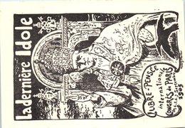 Illustrateur Valéry Muller - Libre Pensée Internationale - Congrès De Paris - La Dernière Idole - église Pape - Philosophie & Pensées