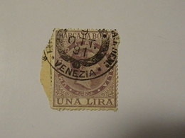ITALIA  MARCA  DA BOLLO    1 Lire- Roi  HUMBERT - Steuermarken