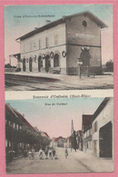 68 - SOUVENIR D' OSTHEIM - Bahnhof - Gare OSTHEIM - BEBLENHEIM - Rue De Colmar - Zonder Classificatie