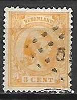 PAYS - BAS      -    1891 .  Y&T  N° 34a Oblitéré . - 1891-1948 (Wilhelmine)