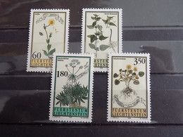 Série 4 Timbres Neuf Liechtenstein 1995 : Fleurs Du Jardin Botanique National - Liechtenstein