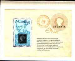 72259)  MAURITIUS-: Sir Rowland Hill 1795-1879  -MNH**  -BF-11 - Mauritius (1968-...)