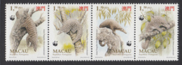 Macao 1995 MNH Scott #770a Strip Of 4 1.50p Asian Pangolin WWF - Macao