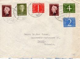 11 IX 1950 Combinatiefrankering Op Envelop Van Eindhoven Naar Basel - Periode 1949-1980 (Juliana)