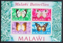 Malawi 1973 MH Scott #202a Souvenir Sheet Of 4 Butterflies - Malawi (1964-...)