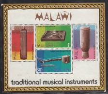 Malawi 1973 MH Scott #212a Souvenir Sheet Of 4African Musical Instruments - Malawi (1964-...)