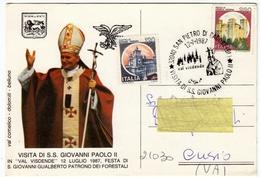 VISITA DI S.S. GIOVANNI PAOLO II IN VAL VISDENDE ...1987 - VAL COMELICO - SAN PIETRO DI CADORE - BELLUNO - Vedi Retro - Francobolli (rappresentazioni)