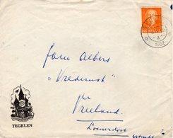 8 IV 1952 Enkelfrankering NVPH 520 Op Geïllustreerde Brief Van Tegelen Naar Vreeland Loenersloot - Periode 1949-1980 (Juliana)