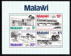 Malawi 1980 MNH Scott #369a Souvenir Sheet Of 4 Post Offices, London 1980 - Malawi (1964-...)
