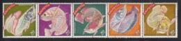 Malaysia 2000 MNH Scott #768 Strip Of 5 Fish - Malaysia (1964-...)