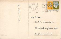 4 1 1954 Nieuwjaarskaart Met NVPH 612 Lokaal Te Rotterdam - Periode 1949-1980 (Juliana)