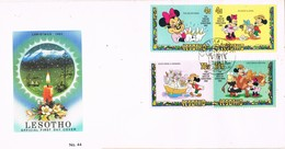 30067. Carta MASERU (Lesotho) 1982. DISNEY Stamps. Mickey. Christmas, Navidad - Lesotho (1966-...)