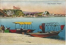 Angera (Varese) Lago Maggiore, Scorcio Panoramico E Barche Pescatori - Varese