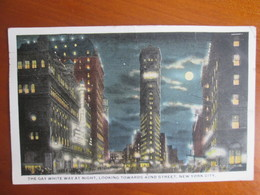The Gay White Way At Night . Moonlight - New York City