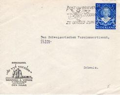 11 X 1949 Enkelfrankering NVPH 507 Op Firma-envelop Van 'sGravenhage Naar Olten Zwitserland - Periode 1949-1980 (Juliana)