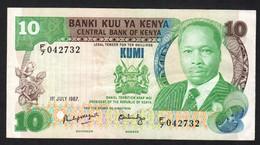 KENYA.  : 10 Schillings - 1987- P20f - XF - Kenia