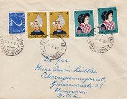 23 1 1951 Combinatiefrankering Van Amsterdam Naar Hannover - Periode 1949-1980 (Juliana)
