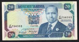 KENYA.  : 20 Schillings - 1989- P20b - XF - Kenya