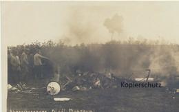"""AK """"abgeschossenes Flugzeug"""" - Guerra 1914-18"""
