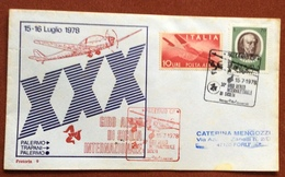 AVIAZIONE XXX  GIRO AEREO DI SICILIA  15-16/7/78  AEROGRAMMA òPALERMO TRAPANI PALERMO - Francobolli