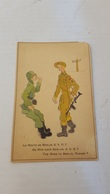 """ANTIQUE POSTCARD WWII HUMOUR """" THE ROAD TO BERLIN , PLEASE ? """" UNUSED MADE IN BELGIUM - Humoristiques"""