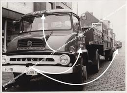 ORIGINAL PHOTOGRAPH / MERKSEM 1950/60-ies ESSO GAS FORD TRADER THAMES 55 DIESEL DELIVERY TRUCK J ROOVERS - Antwerpen