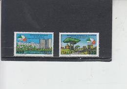 ITLIA 1984 - Sassone  1677/8** - Expo Italia '85 - Esposizioni Universali