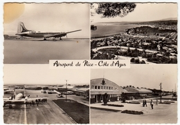 AVIAZIONE - AEREI - AEROPORTO - AEROPORT DE NICE - COTE D'AZUR - 1956Vedi Retro - Aerodromi