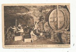 Cp, Métier ,vignes , Vins , établissements VAVASSEUR Et BERNARDET , 37 , Indre & Loire ,la Mise En Bouteilles, Vierge - Paysans
