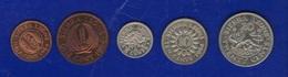 Sierra Leone 20 10 5 Cents + 1 E  Half Cent 1964 Lotto 5 Monete UNC - Sierra Leone