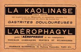 LA KAOLINASE / CARTE POSTALE / BON POUR UN ECHANTILLON / PHARMACIE RATIONNELLE / FAUBOURG POISSONNIERE / PARIS - Salute