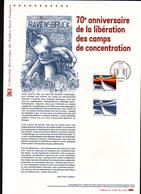 2015, DOCUMENT OFFICIEL DE LA POSTE: 70e Anniversaire De La Liberation Des Camps De Concentration, Ravensbruck - Documents De La Poste