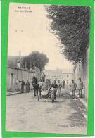 51 SAVIGNY SUR ARDRE - Rue De L'église. Moto, Side Car, Gendarmes, Attelage Cheval  Belle Animation - France
