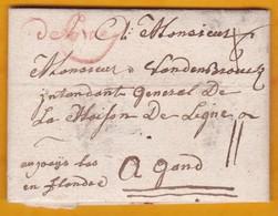 1778 - Lettre Avec Correspondance De 2 Pages Vers Gand, Flandre (Belgique Aujourd'hui) - Postmark Collection (Covers)