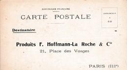 CARTE POSTALE / BON POUR UN ECHANTILLON DE ..... / LABO HOFFMANN LA ROCHE  / PARIS - Salute