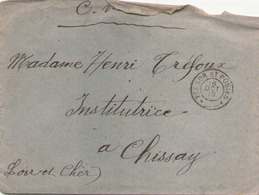 FRANCE ENVELOPPE DU 16 OCTOBRE 1918 POUR CHISSAY TRESOR ET POSTE - Marcophilie (Lettres)