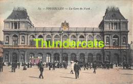 CPA  BRUXELLES  LA GARE DU NORD TRAM - Spoorwegen, Stations