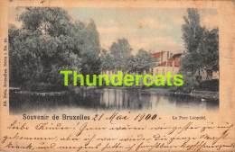 CPA  BRUXELLES  SOUVENIR LE PARC LEOPOLD ( PLI - PLOOI ) NELS SERIE 1 NO 83 - Forêts, Parcs, Jardins