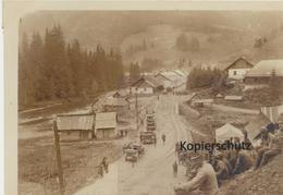 Foto (8,8 Cm X 12,2 Cm) Pappvala Bei Kirlibaba - Österr. Truppen - Rumänien