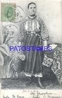 100778 ROMANIA RUMANIA FATA DE LA MUNTE COSTUMES WOMAN CIRCULATED TO URUGUAY POSTAL POSTCARD - Roumanie