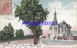 100779 ROMANIA RUMANIA TURNU SEVERIN BOULEVARD CAROL I BURULIAN PATTERN CIRCULATED TO ARGENTINA POSTAL POSTCARD - Romania