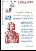 2015, DOCUMENT OFFICIEL DE LA POSTE: Jacques II De Chabannes, Seigneur De La Palice - Documents Of Postal Services