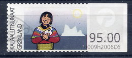 GREENLAND 2009 Inuit Woman 95.00 Used.  Michel 3 - Machine Stamps