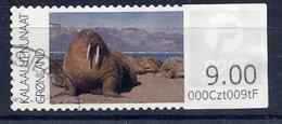 GREENLAND 2011 Walrus 9 Kr. Kr Used.  Michel 8 - Machine Stamps