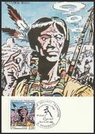 Année 1988 - N° 2505 - Sitting Bull - La Communication : Signaux De Fumée - Carte 1er Jour - Obl. Angoulême 29-01-1988 - FDC