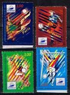 Frankreich 1998/99, Michel# 3219, 3221, 3271, 3272 O Fußball-WM - Frankreich