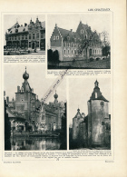 1929 : Belgique, Gaesbeek, Elewijt, Heverlé, Moulin De Hal, La Belle-Molen, Sempst, Aerschot, Page Originale Recto-verso - Vieux Papiers