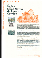 2015, DOCUMENT OFFICIEL DE LA POSTE: Eglise Saint Martial De Lestards, Correze - Documents Of Postal Services