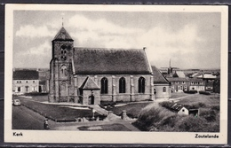 Ca. 1960 Zoutelande Kerk Met Molen Opde Achtergrond Z/W Ongebruikt - Zoutelande
